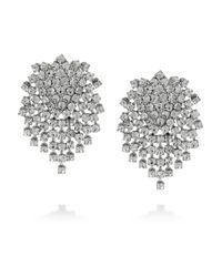 Kenneth Jay Lane - Metallic Swarovski Crystal Clip Earrings - Lyst