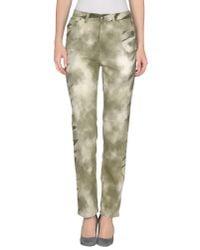 Krizia Jeans - Natural Casual Pants - Lyst