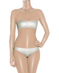 Lisa Marie Fernandez - The Natalie Metallic Bandeau Bikini - Lyst