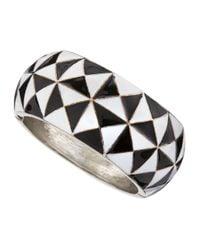 R.j. Graziano | Black Diamond Enamel Bracelet | Lyst