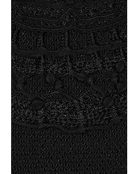 Vanessa Bruno | Black Crochetknit Cotton Dress | Lyst