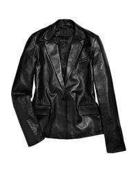 Alexander Wang | Black Leather Boyfriend Blazer | Lyst