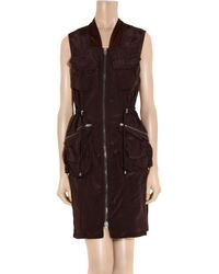 Alexander Wang - Purple Zipfront Cargo Dress - Lyst
