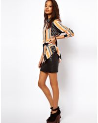 ASOS Collection - Multicolor Asos Shirt in Spot and Stripe Placement Print - Lyst