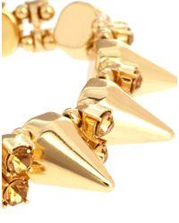 ASOS - Metallic Spike Stone Stretch Bracelet - Lyst