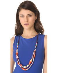 Bluma Project - Orange Pinta Necklace - Lyst