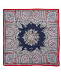 Brooks Brothers | Blue Silk Paisley Square Scarf | Lyst
