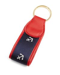 Brooks Brothers - Red Anchor Repp Key Fob for Men - Lyst