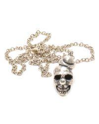 Duffy - Silver Skull Pendant - Lyst