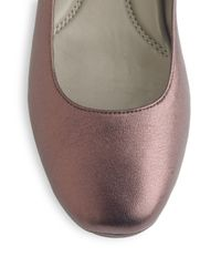 Eileen Fisher - Brown Metallic Leather Ballet Flats - Lyst