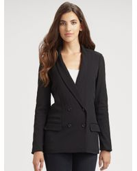 Elizabeth and James | Black Agnes Double Breasted Blazer | Lyst