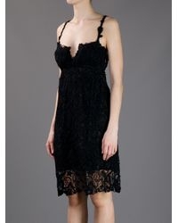 Ermanno Scervino | Black Embroidered Lace Dress | Lyst
