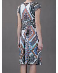 Etro | Multicolor Paisley Print Ruffle Dress | Lyst