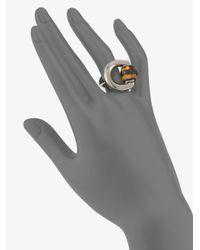Gucci - Metallic Bamboo Horsebit Sterling Silver Ring - Lyst