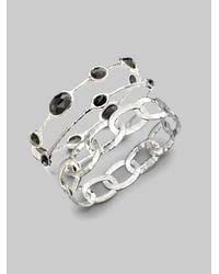 Ippolita | Metallic Glamazon Sterling Silver Roma Link #1 Bangle Bracelet | Lyst