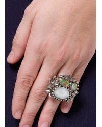 Mango - Metallic Holographic Crystals Ring - Lyst