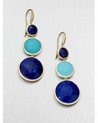Marco Bicego - Blue Jaipur Resort Lapis, Turquoise & 18K Yellow Gold Drop Earrings - Lyst