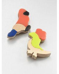 Marni - Red Resin Cardboard Animal Brooch Set - Lyst