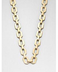 Michael Kors - Metallic Long Chain Link Necklace - Lyst