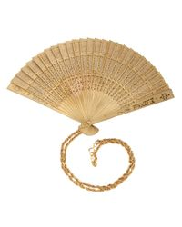 Moschino - Natural Fan Pendant Necklace - Lyst