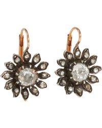 Olivia Collings | Brown Paste Floral Earrings | Lyst