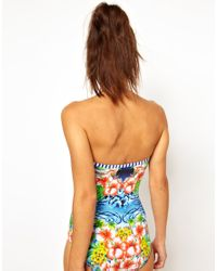 Seafolly - Multicolor Aloha Bandeau Swimsuit - Lyst