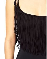 Seafolly - Black Jazz Club Asymmetrical Swimsuit - Lyst