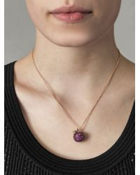Stephen Webster - Purple Ruby Diamond Gold Poison Apple Necklace - Lyst