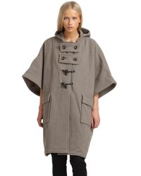 Surface To Air | Brown Hooded Duffle Cape & More | Lyst