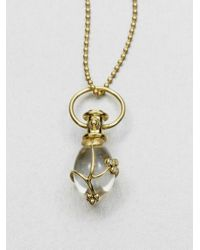 Temple St. Clair | Metallic Tree Of Life Rock Crystal, Diamond & 18k Yellow Gold Small Vine Amulet | Lyst