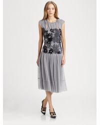 5f37ce9ba697 Lyst - Tory Burch Faith Dress in Gray
