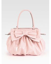 Valentino | Pink Lacca Patent Leather Top Handle Bag | Lyst
