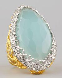 Alexis Bittar | Blue Siyabona Peruvian Chalcedony Ring | Lyst