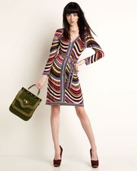 BCBGMAXAZRIA | Multicolor Mayla Combo Knit Dress | Lyst