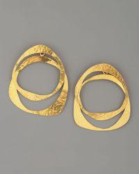 Herve Van Der Straeten - Metallic Circle Earrings - Lyst