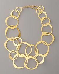 Herve Van Der Straeten | Metallic Circlelink Bib Necklace | Lyst
