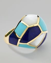 Ippolita | Blue Gold Rock Candy Multistone Mosaic Dome Ring | Lyst