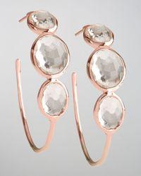 Ippolita | Multicolor Rose Clear Quartz Hoop Earrings | Lyst