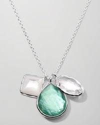 Ippolita | Metallic Wonderland 3charm Necklace Mint | Lyst