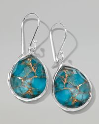Ippolita - Metallic Wonderland Mini Turquoise Teardrop Earrings - Lyst