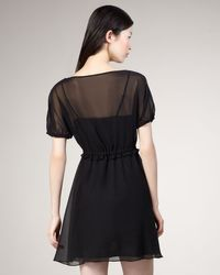 Marc By Marc Jacobs | Black Cunningham Silk Chiffon Dress | Lyst