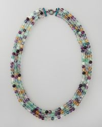 M.c.l  Matthew Campbell Laurenza | Multicolor Beaded Triplestrand Necklace 34l | Lyst