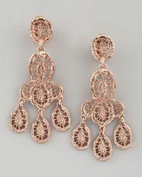 Oscar de la Renta - Pink Looped Lace Cluster Earrings  - Lyst
