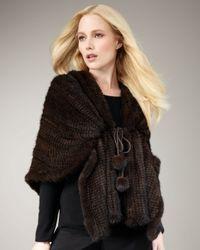 Pologeorgis | Black Knit Mink Shawl | Lyst