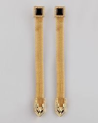 Rachel Zoe - Metallic Snake Chain Drop Earrings - Lyst