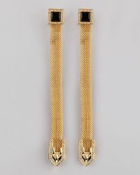 Rachel Zoe | Metallic Snake Chain Drop Earrings | Lyst