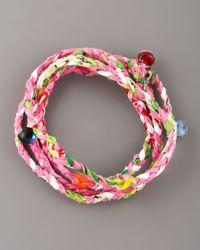 Same Sky - Multicolor Beaded Woven Wrap Bracelet - Lyst