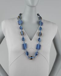 Stephen Dweck | Blue Knotted Long Multistone Necklace  | Lyst