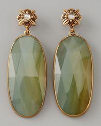 Stephen Dweck - Green Elongated Agate Drop Earrings - Lyst