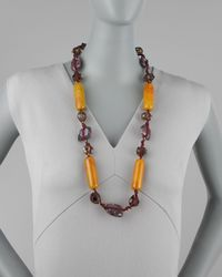 Stephen Dweck - Knotted Long Multi-stone Necklace Purple - Lyst